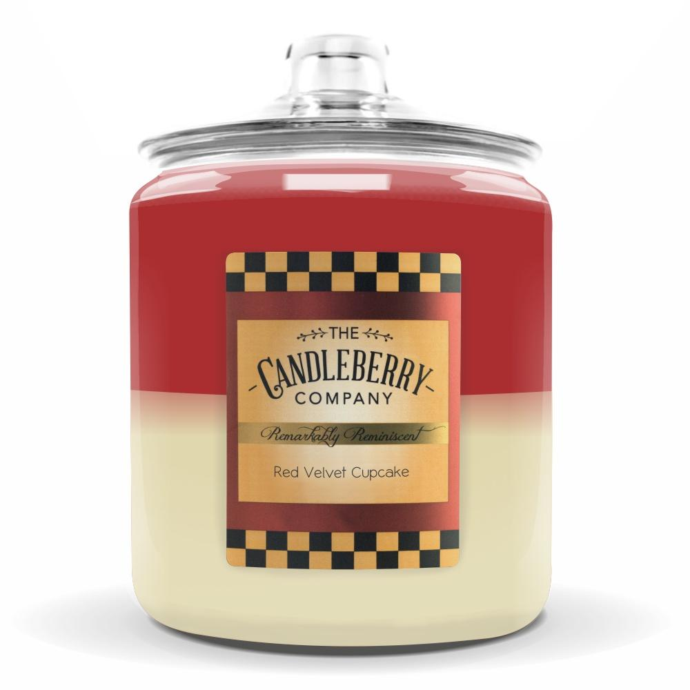 Red Velvet Cupcake™, 160 oz. Jar, Scented Candle 160 oz. Cookie Jar Candle The Candleberry Candle Company