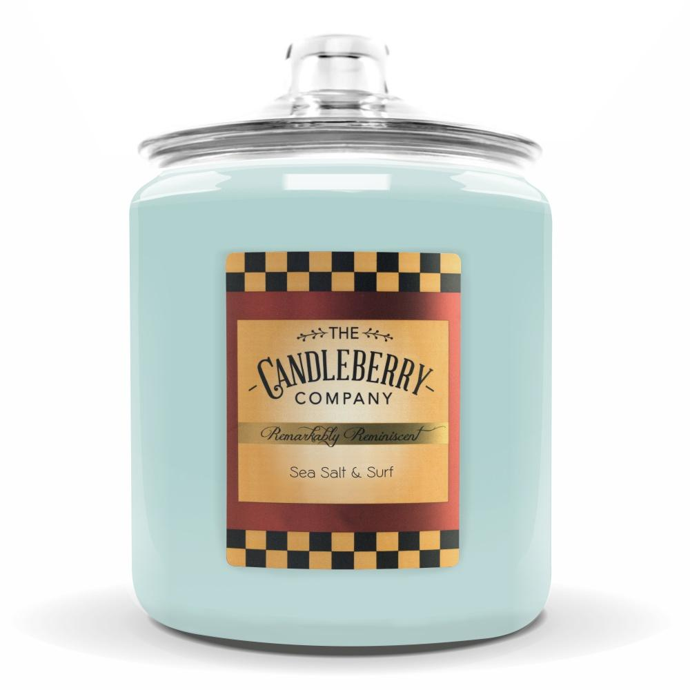 Sea Salt & Surf™, 160 oz. Jar, Scented Candle 160 oz. Cookie Jar Candle The Candleberry Candle Company