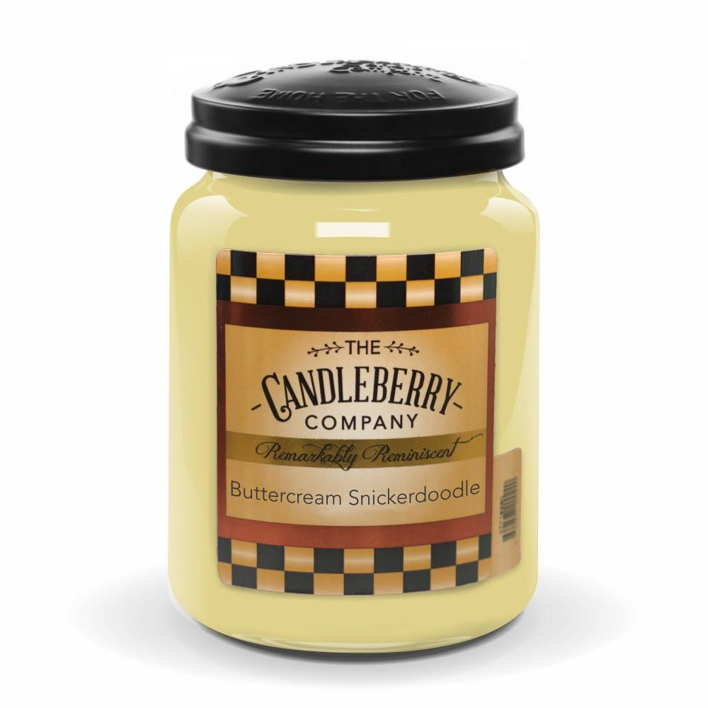 Buttercream Snickerdoodle™, 26 oz. Jar, Scented Candle 26 oz. Large Jar Candle The Candleberry Candle Company