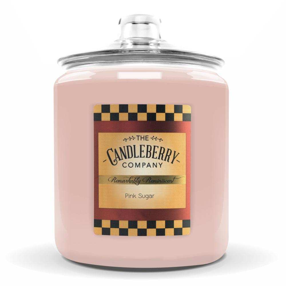 Pink Sugar™, 160 oz. Jar, Scented Candle 160 oz. Cookie Jar Candle The Candleberry Candle Company