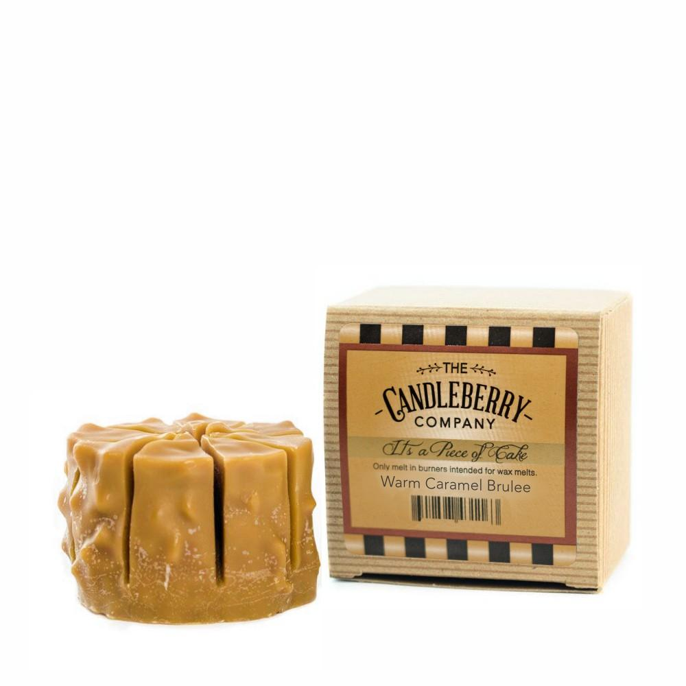 "Warm Caramel Brulee™, ""It's a Piece of Cake"" Scented Wax Melts ""It's a Piece of Cake""® Wax Melts The Candleberry Candle Company"