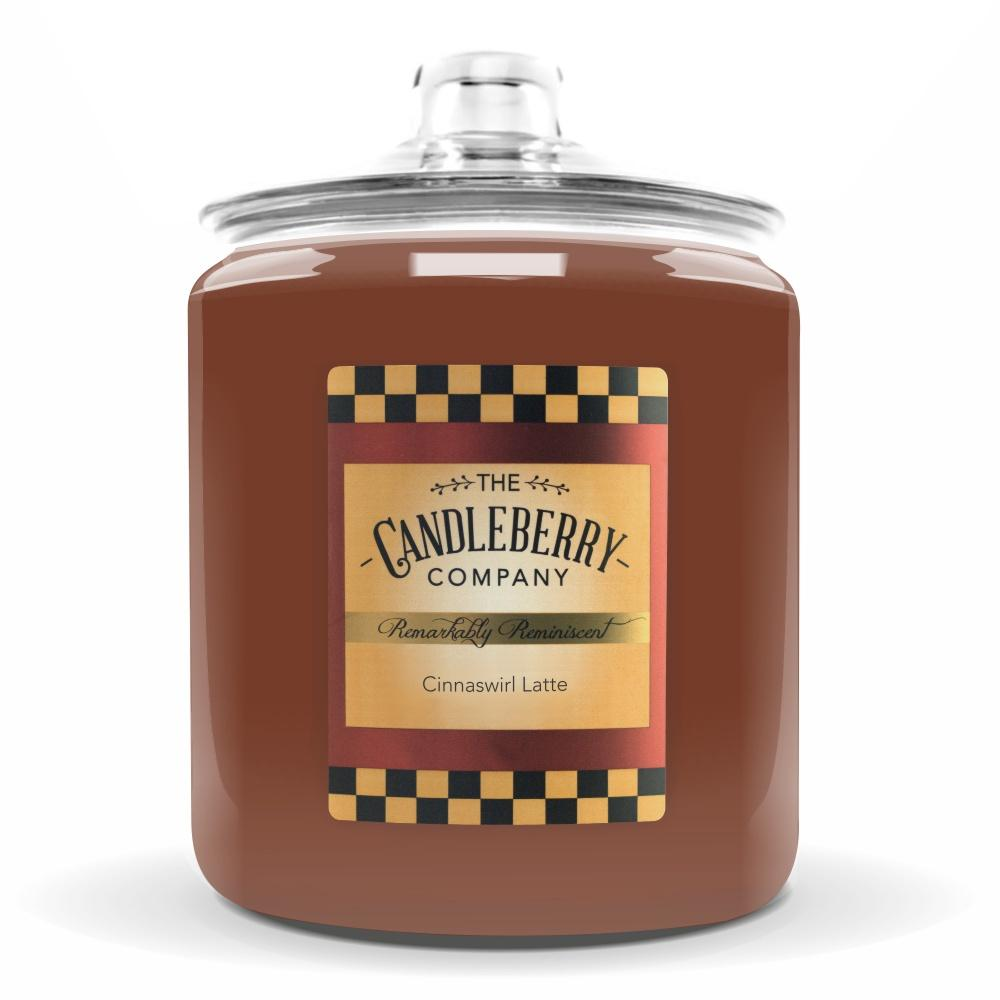 Cinnaswirl Latte™, 160 oz. Jar, Scented Candle 160 oz. Cookie Jar Candle The Candleberry Candle Company