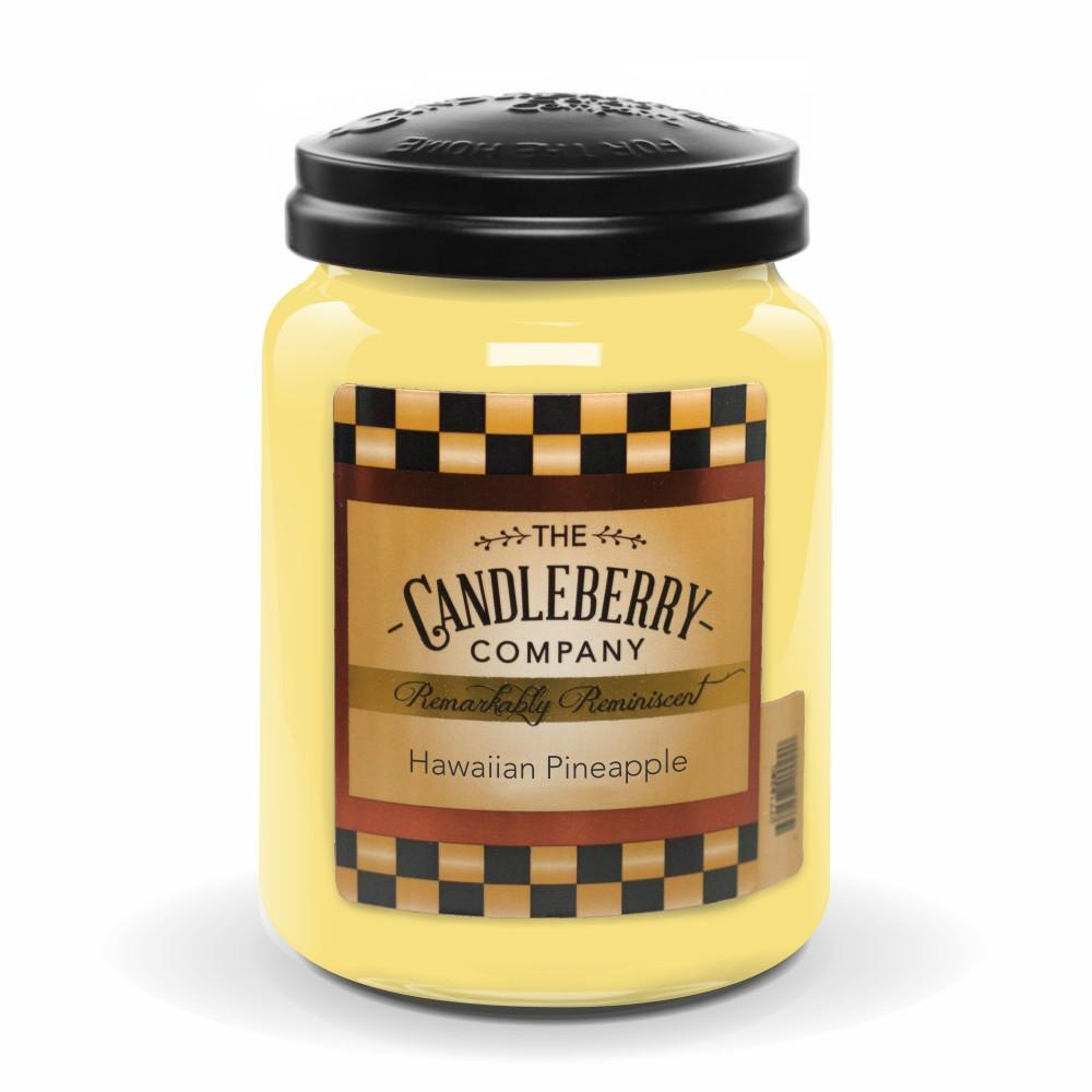 Hawaiian Pineapple™, 26 oz. Jar, Scented Candle 26 oz. Large Jar Candle The Candleberry Candle Company