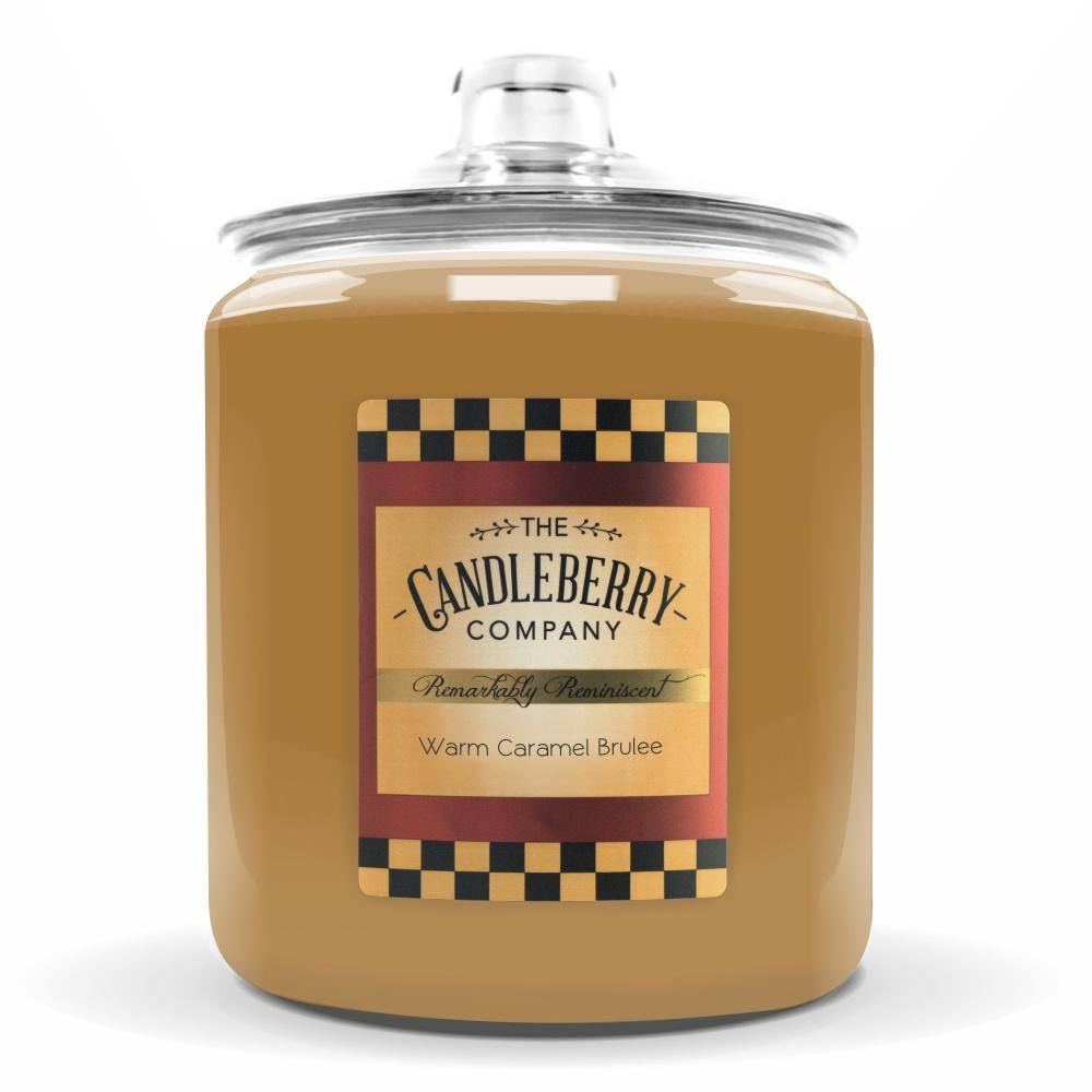 Warm Caramel Brulee™, 160 oz. Jar, Scented Candle 160 oz. Cookie Jar Candle The Candleberry Candle Company