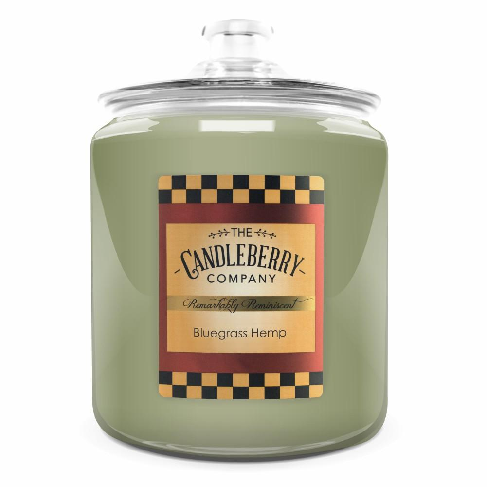 Bluegrass Hemp™, 160 oz. Jar, Scented Candle 160 oz. Cookie Jar Candle The Candleberry® Candle Company