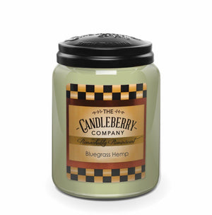 Bluegrass Hemp™, 26 oz. Jar, Scented Candle 26 oz. Large Jar Candle The Candleberry® Candle Company
