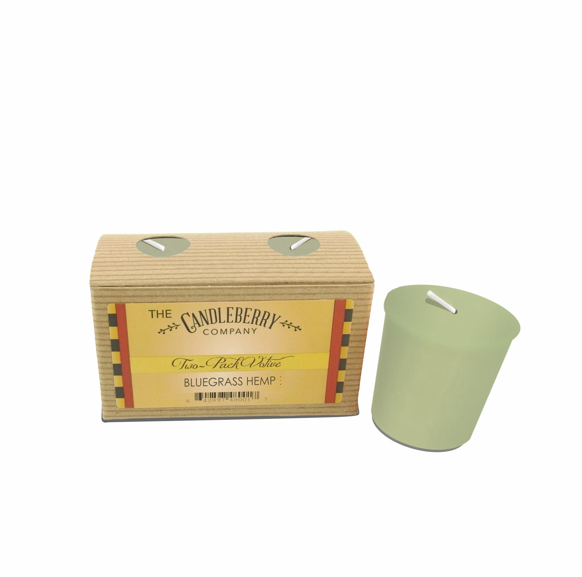 Bluegrass Hemp™, 10-Hour Votive Candle(2-pack) 10-12 Hour Votive Candles The Candleberry Candle Company