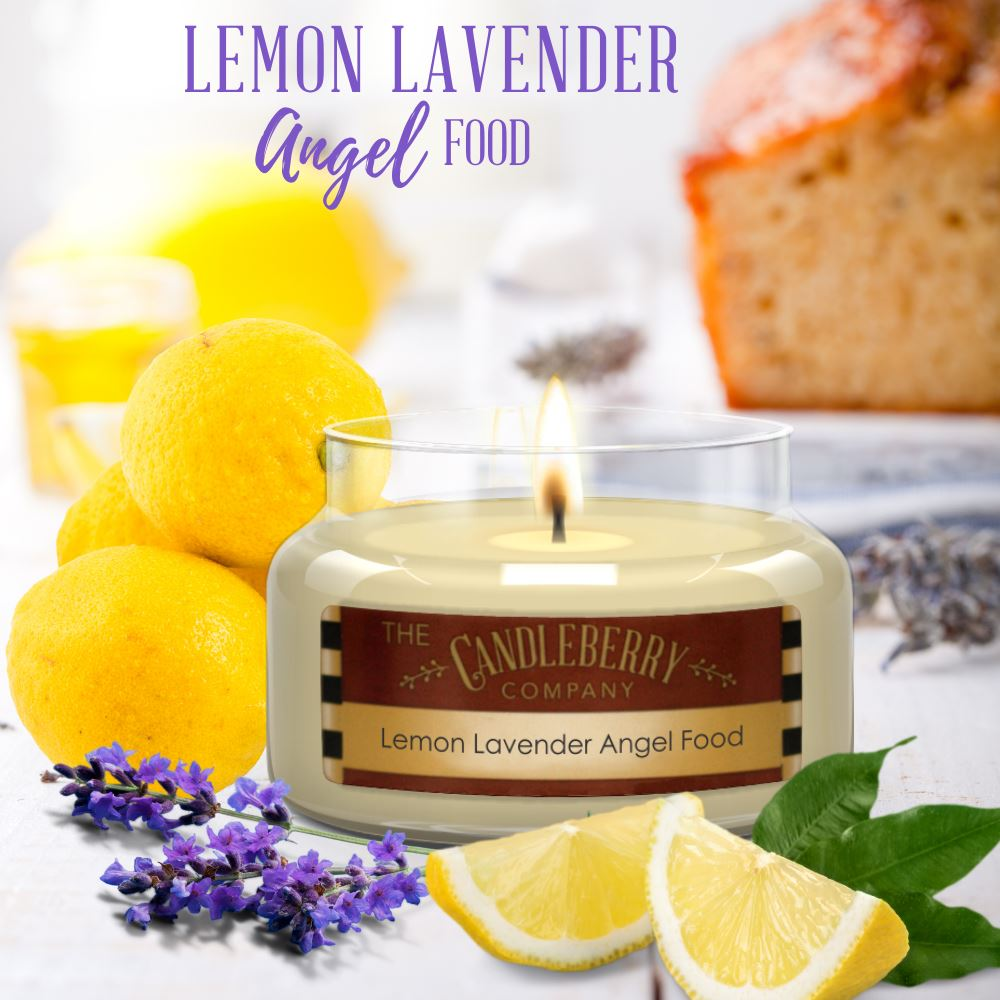 Lemon Lavender Angel Food™, 26 oz. Jar, Scented Candle 26 oz. Large Jar Candle The Candleberry Candle Company
