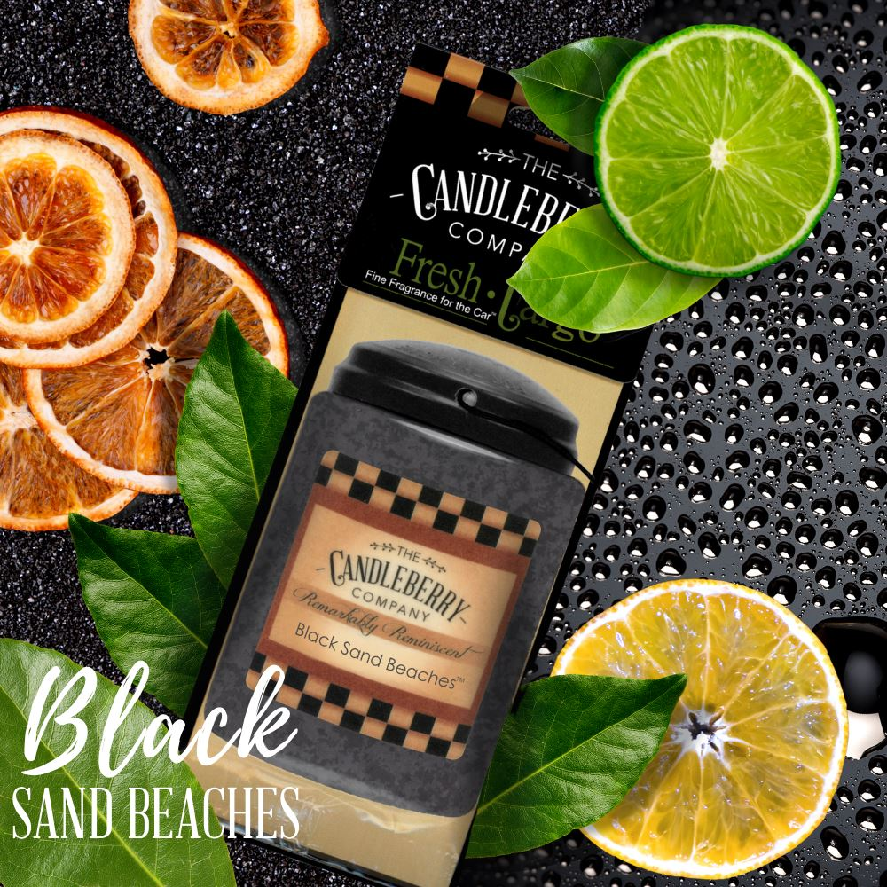 "Black Sand Beaches®, 2-Pack, ""Fresh Cargo"", Scent for the Car Fresh CarGo® Car Scent The Candleberry Candle Company"