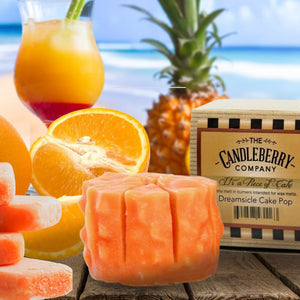 "Dreamsicle Cake Pop™, ""It's a Piece of Cake"" Scented Wax Melts ""It's a Piece of Cake""® Wax Melts The Candleberry Candle Company"