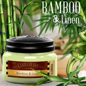 Bamboo & Linen™, 10 oz. Jar, Scented Candle 10 oz. Small Jar Candle The Candleberry Candle Company
