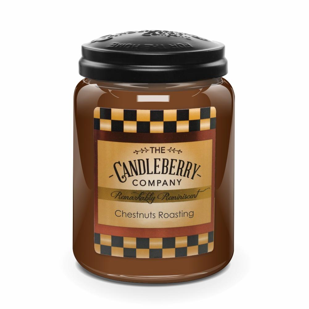 Chestnuts Roasting™, 26 oz. Jar, Scented Candle 26 oz. Large Jar Candle The Candleberry Candle Company