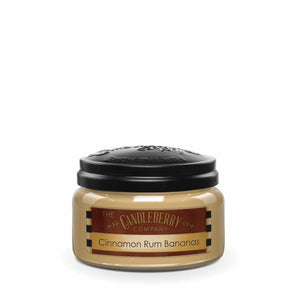 Cinnamon Rum Bananas™, 10 oz. Jar, Scented Candle 10 oz. Small Jar Candle The Candleberry® Candle Company