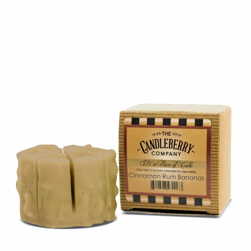 "Cinnamon Rum Bananas™, ""It's a Piece of Cake"" Scented Wax Melts ""It's a Piece of Cake""® Wax Melts The Candleberry® Candle Company"