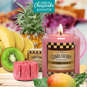 Caribbean Cheesecake ™, 26 oz. Jar, Scented Candle 26 oz. Large Jar Candle The Candleberry Candle Company