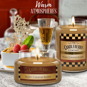 Warm Caramel Brulee™, 26 oz. Jar, Scented Candle 26 oz. Large Jar Candle The Candleberry Candle Company