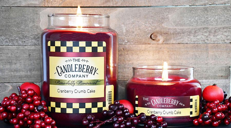 Cranberry Crumb Cake™, 10 oz. Jar, Scented Candle 10 oz. Small Jar Candle The Candleberry Candle Company