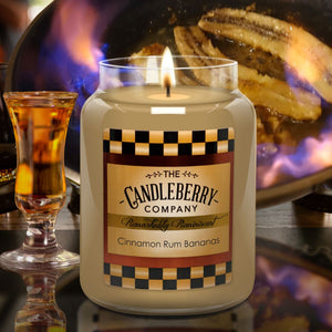 Cinnamon Rum Bananas™, 26 oz. Jar, Scented Candle 26 oz. Large Jar Candle The Candleberry® Candle Company