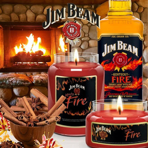 Jim Beam Fire®, 26 oz. Jar, Scented Candle Jim Beam, 26 oz. Large Jar Candle The Candleberry Candle Company