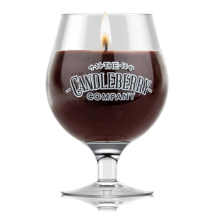 Grapes & Grains™ - Bourbon, 10 oz Beer Glass Candle Grapes & Grains The Candleberry® Candle Company