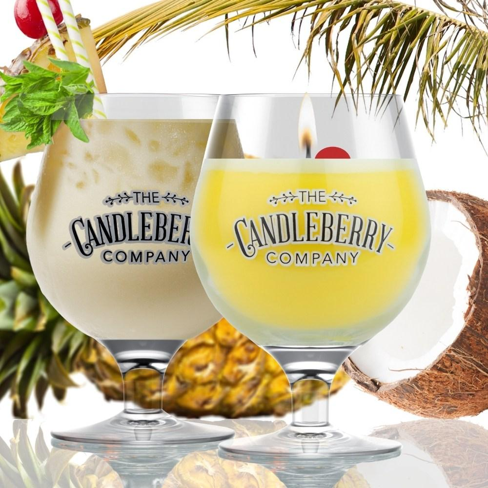 Grapes & Grains - Pina Colada, 10 oz Beer Glass Candle Grapes & Grains The Candleberry® Candle Company