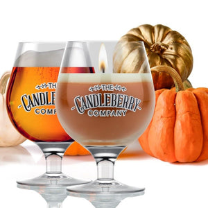 Grapes & Grains - Pumpkin, 10 oz Beer Glass Candle Grapes & Grains The Candleberry Co.