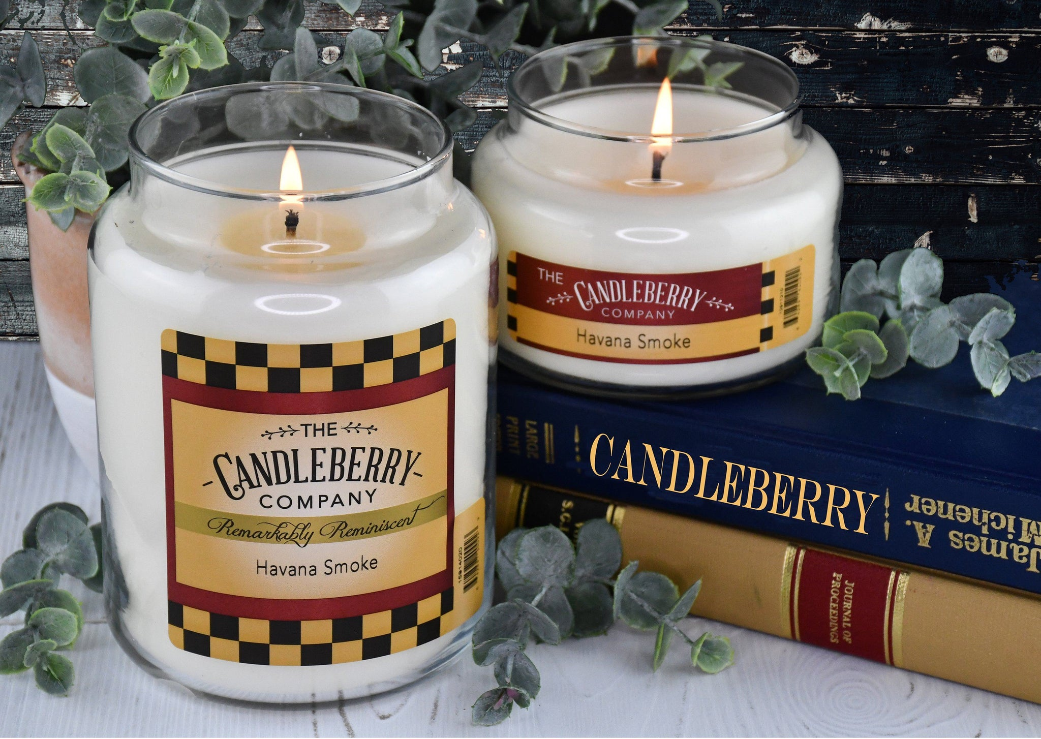 Havana Smoke™, 10 oz. Jar, Scented Candle 10 oz. Small Jar Candle The Candleberry Candle Company