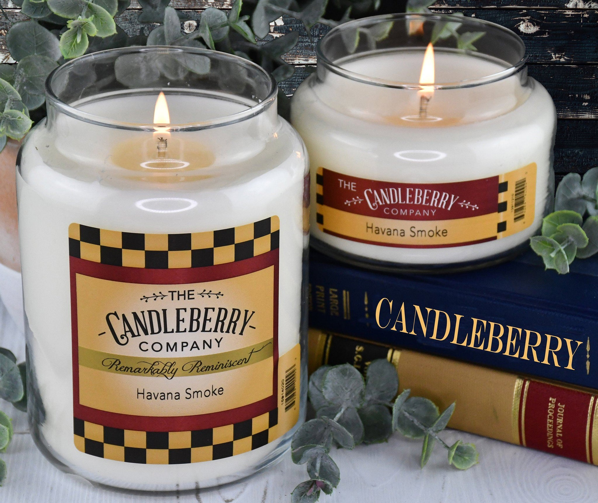 Havana Smoke™, 26 oz. Jar, Scented Candle 26 oz. Large Jar Candle The Candleberry Candle Company