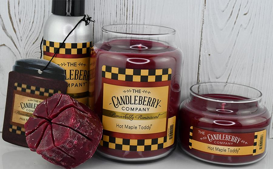 Hot Maple Toddy®, 10 oz. Jar, Scented Candle 10 oz. Small Jar Candle The Candleberry Candle Company