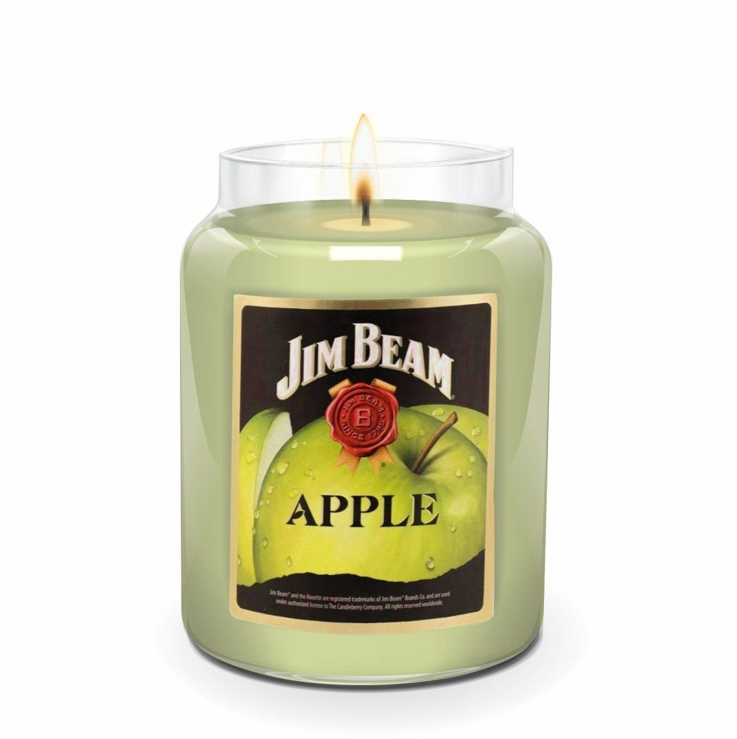 Jim Beam Apple®, 26 oz. Jar, Scented Candle Jim Beam, 26 oz. Large Jar Candle The Candleberry Candle Company