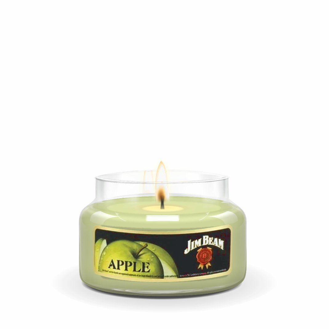 Jim Beam Apple®, 10 oz. Jar, Scented Candle Jim Beam, 10 oz. Small Jar Candle The Candleberry Candle Company