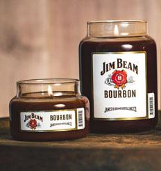 Jim Beam Kentucky Bourbon®, 10 oz. Jar, Scented Candle Jim Beam, 10 oz. Small Jar Candle The Candleberry Candle Company