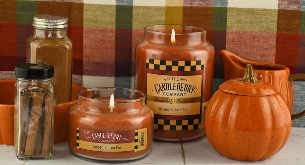 Spiced Punkin Pie™, 10 oz. Jar, Scented Candle 10 oz. Small Jar Candle The Candleberry Candle Company