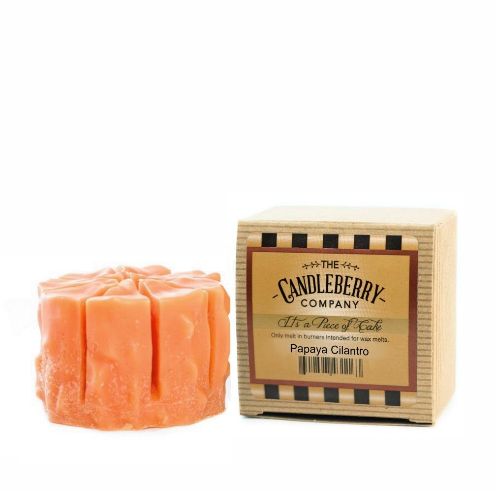 "Papaya Cilantro™, ""It's a Piece of Cake"" Scented Wax Melts ""It's a Piece of Cake""® Wax Melts The Candleberry Candle Company"