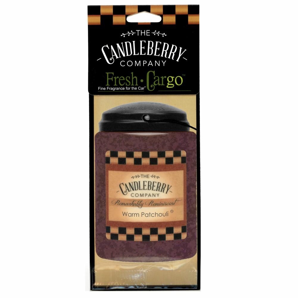"Warm Patchouli™- ""Fresh Cargo"", Scent for the Car (2-PACK) Fresh CarGo® Car Scent The Candleberry Candle Company"
