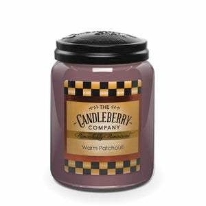 Warm Patchouli™, 26 oz. Jar, Scented Candle 26 oz. Large Jar Candle The Candleberry® Candle Company