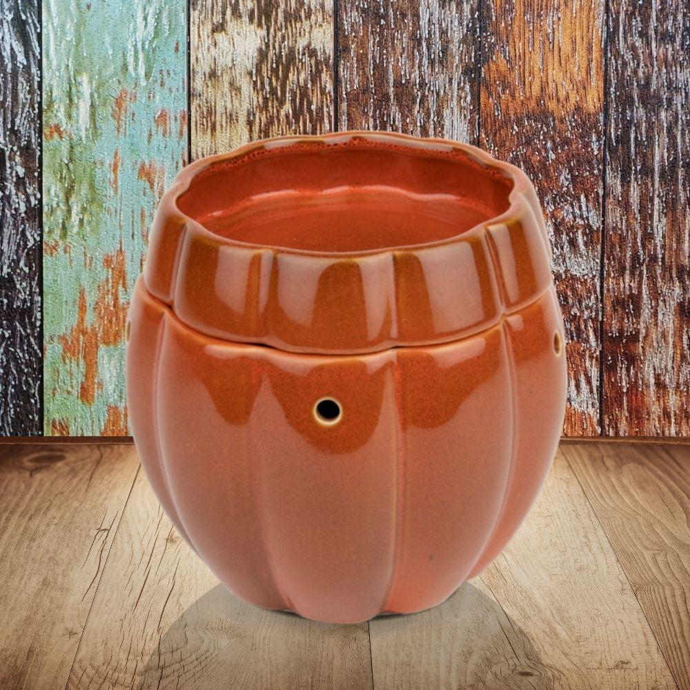"""Petite Pumpkin"" Wax Tart Warmer, Including Safety Timer Warmer The Candleberry Candle Company"