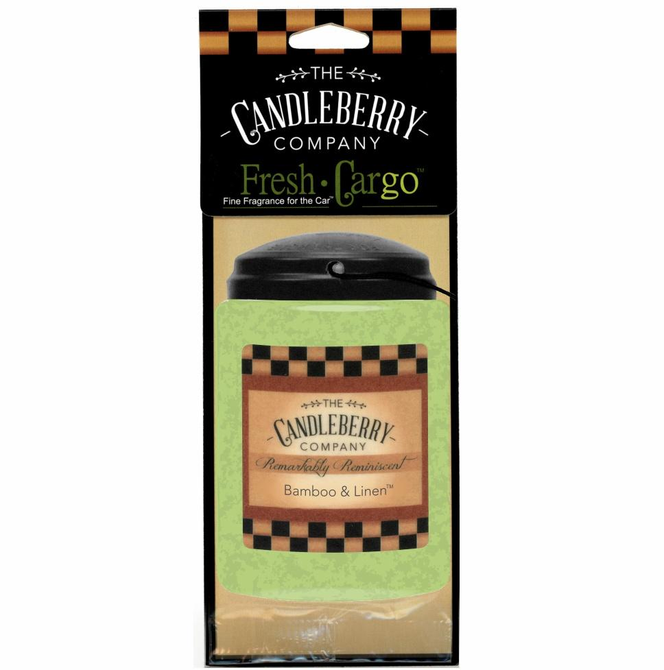 "Bamboo & Linen™, 2-Pack, ""Fresh Cargo"", Scent for the Car Fresh CarGo® Car Scent The Candleberry Candle Company"
