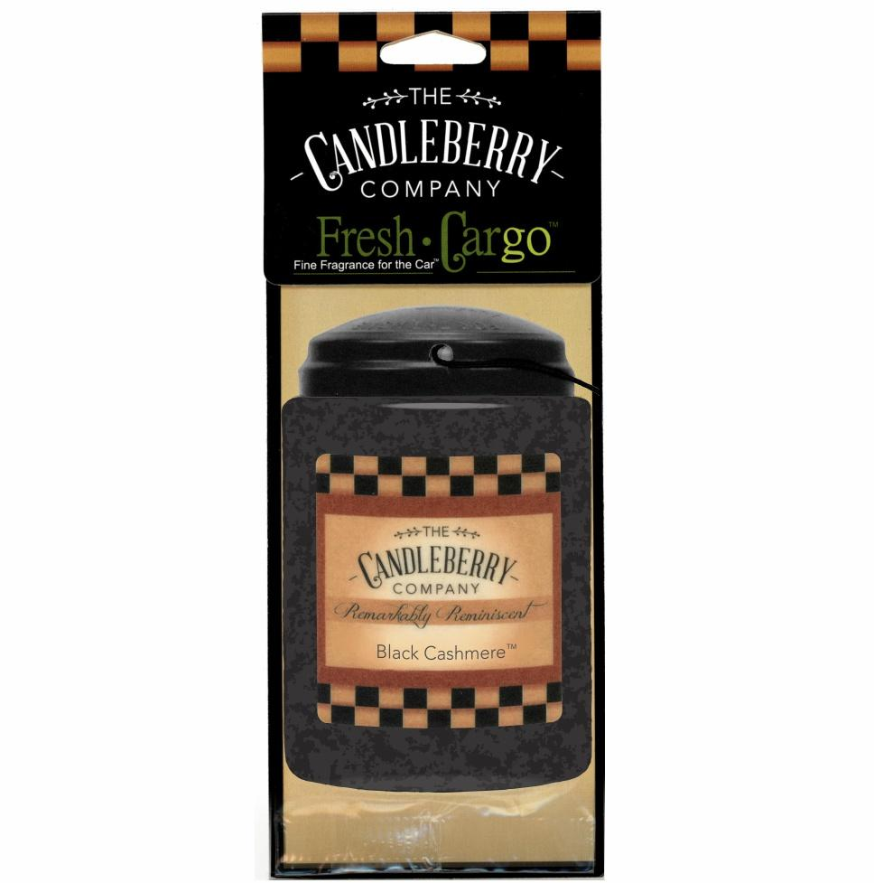 "Black Cashmere™, 2-Pack, ""Fresh Cargo"", Scent for the Car Fresh CarGo® Car Scent The Candleberry Candle Company"