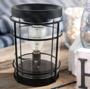 """Black Nostalgic"" Edison Tart Warmer, Including Safety Timer Accessories The Candleberry Candle Company"