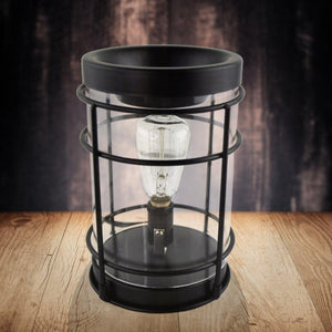 """Black Nostalgic"" Edison Tart Warmer, Including Safety Timer Warmer The Candleberry Candle Company"