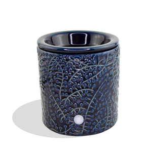 """Blue Leaf"" Tart Warmer, Including Safety Timer Accessories The Candleberry Candle Company"