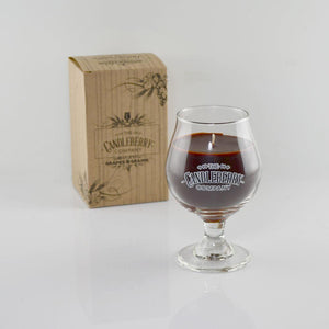 Bourbon, NEW- Candleberry Beer Glass The Candleberry® Candle Company