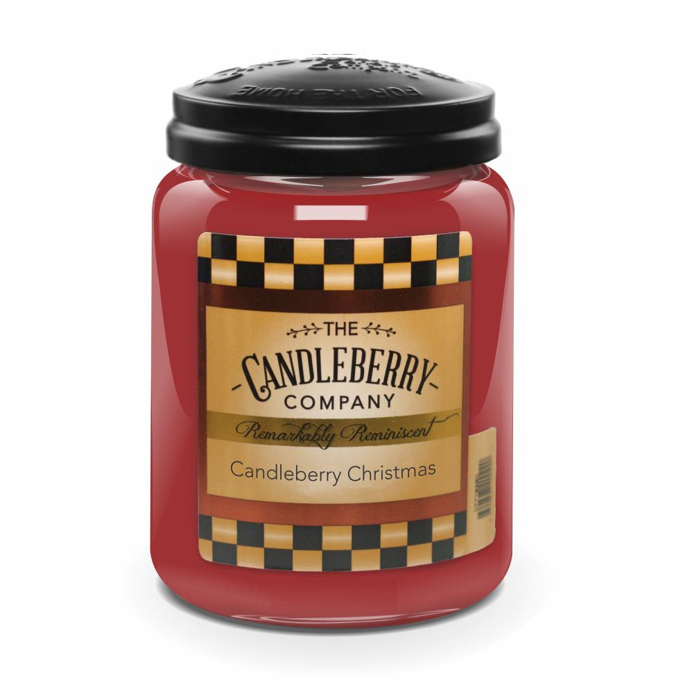 Candleberry Christmas™, 26 oz. Jar, Scented Candle 26 oz. Large Jar Candle The Candleberry Candle Company