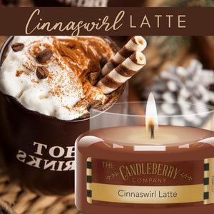 USE CODE: AUGCOM2020 for 20% OFF - Cinnaswirl Latte™, 10 oz. Jar, Scented Candle 10 oz. Small Jar Candle The Candleberry Candle Company