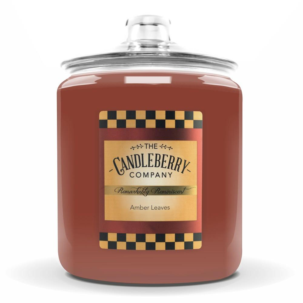 Amber Leaves™, 160 oz. Jar, Scented Candle 160 oz. Cookie Jar Candle The Candleberry Candle Company