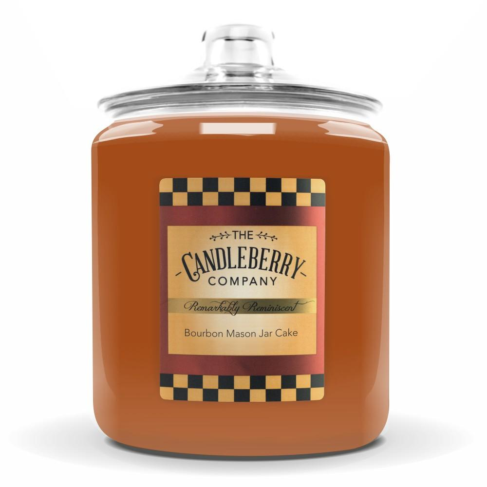 Bourbon Mason Jar Cake, 160 oz. Jar, Scented Candle 160 oz. Cookie Jar Candle The Candleberry Candle Company