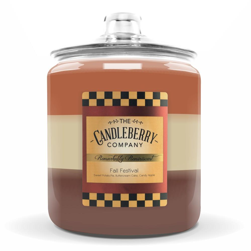 Fall Festival™, 160 oz. Jar, Scented Candle 160 oz. Cookie Jar Candle The Candleberry Candle Company