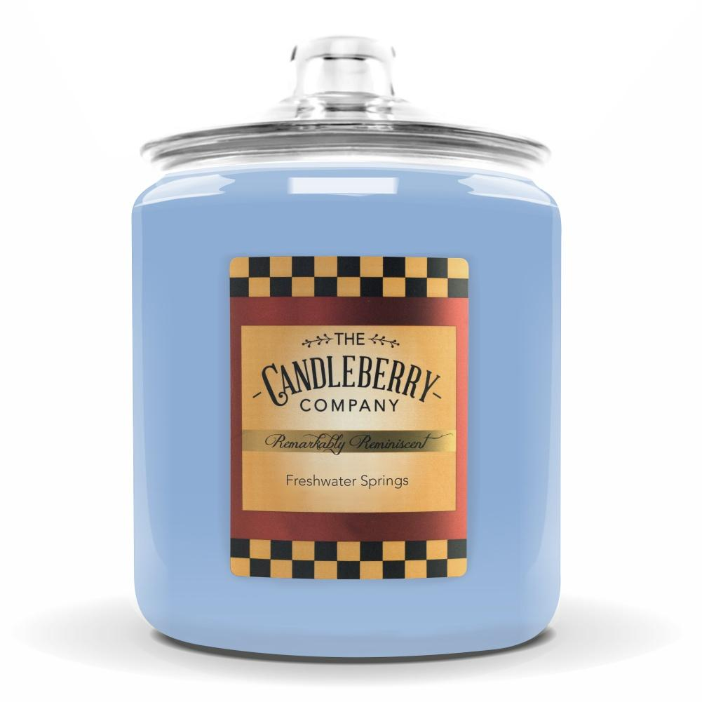 Freshwater Springs™, 160 oz. Jar, Scented Candle 160 oz. Cookie Jar Candle The Candleberry Candle Company