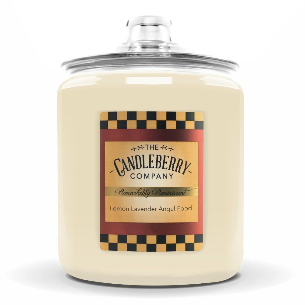 Lemon Lavender Angel Food™, 160 oz. Jar, Scented Candle 160 oz. Cookie Jar Candle The Candleberry Candle Company